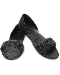 Crocs™ Lina Embellished Dorsay Ballerinas - Zwart