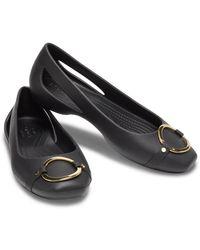 Crocs™ Sloane Embellished Ballerinas - Schwarz