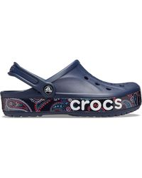 Crocs™ Bayaband Bandana Print Clogs - Blau