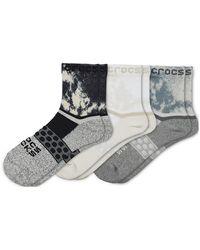 Crocs™ Socks Adult Quarter Graphic 3-Pack Chaussures - Blanc