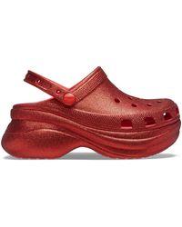 Crocs™ Classic Bae Glitter Klompen - Rood