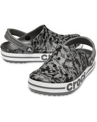 Crocs™ Bayaband Seasonal Printed Klompen - Grijs