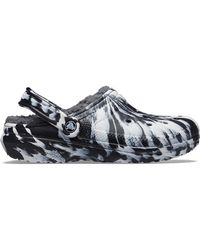 Crocs™ White / Black Classic Lined Marbled Clog