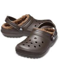 Crocs™ Classic Lined Klompen - Bruin