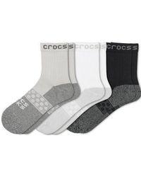 Crocs™ Socks Adult Quarter Solid 3-Pack Chaussures - Gris