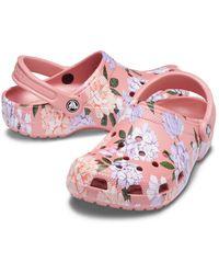 Crocs™ Classic Printed Floral Sabots - Rose
