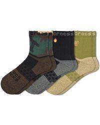 Crocs™ Socks Adult Quarter Graphic 3-Pack Chaussures - Noir