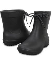 Crocs™ Freesail Shorty Rain Boots - Black