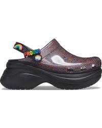 Crocs™ Classic Bae Pride Translucent Glitter Sabots - Noir
