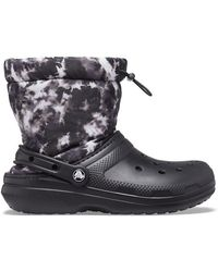 Crocs™ Classic lined neo puff tie dye boot sabots - Noir