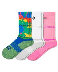 Crocs™ Socks Adult Crew Graphic 3-Pack Chaussures - Multicolore