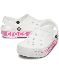 Crocs™ White Bayaband Logo Motion Clog