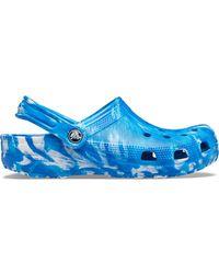 Crocs™ Classic Marbled Sabots - Bleu