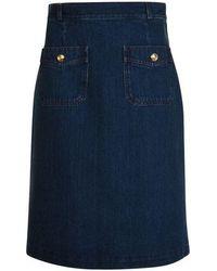 Gucci - Denim Mini Skirt - Lyst