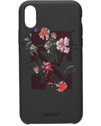 Off-White c/o Virgil Abloh Flower Iphone Xr Case - Black