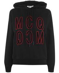 McQ Reverse Logo Hoodie - Black