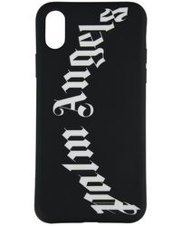 Palm Angels Iphone X Rubber Logo Case - Black