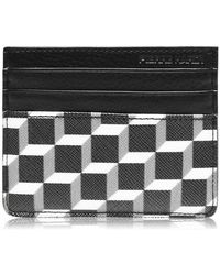 Pierre Hardy Cube Leather Card Holder - Black