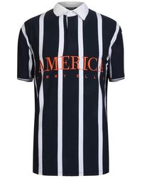 Perry Ellis Striped Polo Shirt - Blue