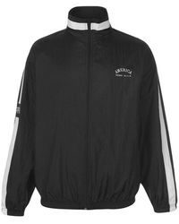Perry Ellis Back Logo Track Jacket - Black