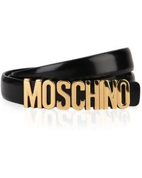 Moschino Small Logo Belt - Black