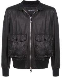 Neil Barrett Lambskin Leather Jacket - Black