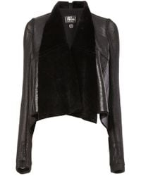 Lost & Found - Sheep Skin Cropped Jacket - Lyst