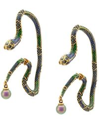 Roberto Cavalli Enamelled Snake Earrings - Multicolour