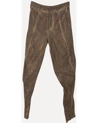 Lumen Et Umbra - Washed Wool Metal Pants - Lyst