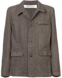 Individual Sentiments - Woven Button Down Jacket - Lyst