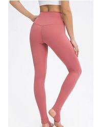 Crystal Wardrobe High-waisted Stirrup Leggings - Multicolor