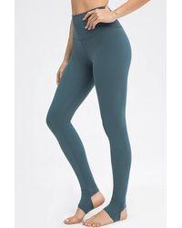 Crystal Wardrobe High-waisted Stirrup Leggings - Blue