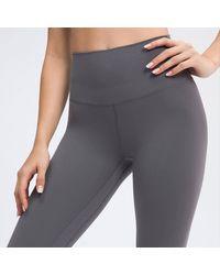 Crystal Wardrobe High-waisted Stirrup Leggings - Gray