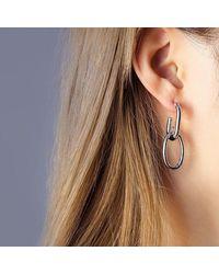 Crystal Wardrobe Chain Drop Earrings Gold/silver - Metallic