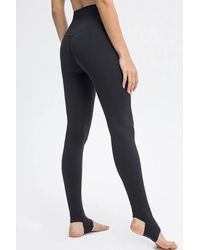 Crystal Wardrobe High-waisted Stirrup Leggings - Black