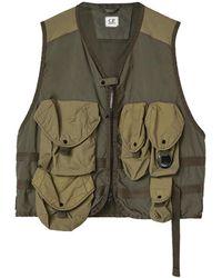 C.P. Company Taylon P Mixed Urban Protection Series Utility Vest - Green