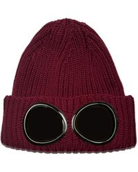 C.P. Company Goggle Beanie - Red