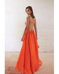 Cult Gaia Althea Chain-embellished Silk Dress - Orange