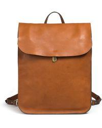 Bleu De Chauffe - Arlo Leather Backpack Cuba Libre - Lyst