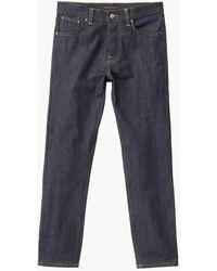 Nudie Jeans Steady Eddie Ii Dry True 12.75oz - Blue