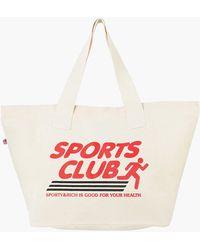 Sporty & Rich Sports Club Tote Bag Natural - White