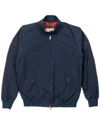 Baracuta G9 Classic Harrington Jacket Dark Navy - Blue