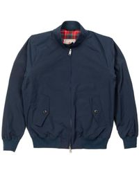 Baracuta G9 Modern Classic Harrington Jacket Dark Navy - Blue