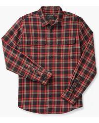 Filson Scout Shirt Black/red/brown Plaid