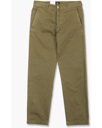 Edwin Loose Chino Compact Twill Uniform Green Garment Dyed