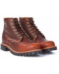 """Chippewa Boots - Chippewa 6"""" Plain Toe Lugged Boot Tan Renegade - Lyst"""