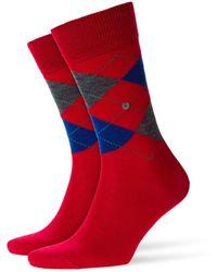 Burlington Edinburgh Socks Cranberry - Red