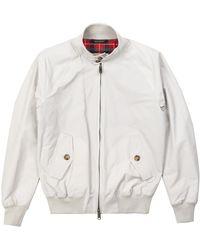 Baracuta G9 Modern Classic Harrington Jacket Mist - Gray