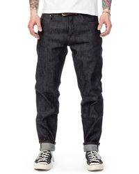 The Unbranded Brand Ub622 Relaxed Tapered Fit Stretch Selvedge Indigo 11oz - Blue