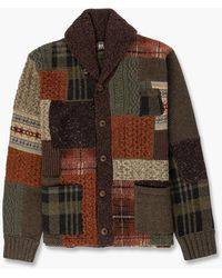 RRL Shawl Cardigan Farm Olive - Brown